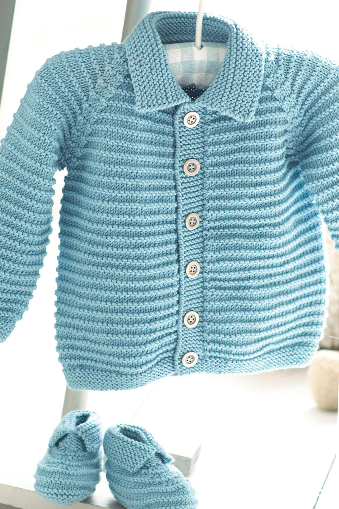 Baby Boys Cardigan And Booties Knitting Pattern | The ...