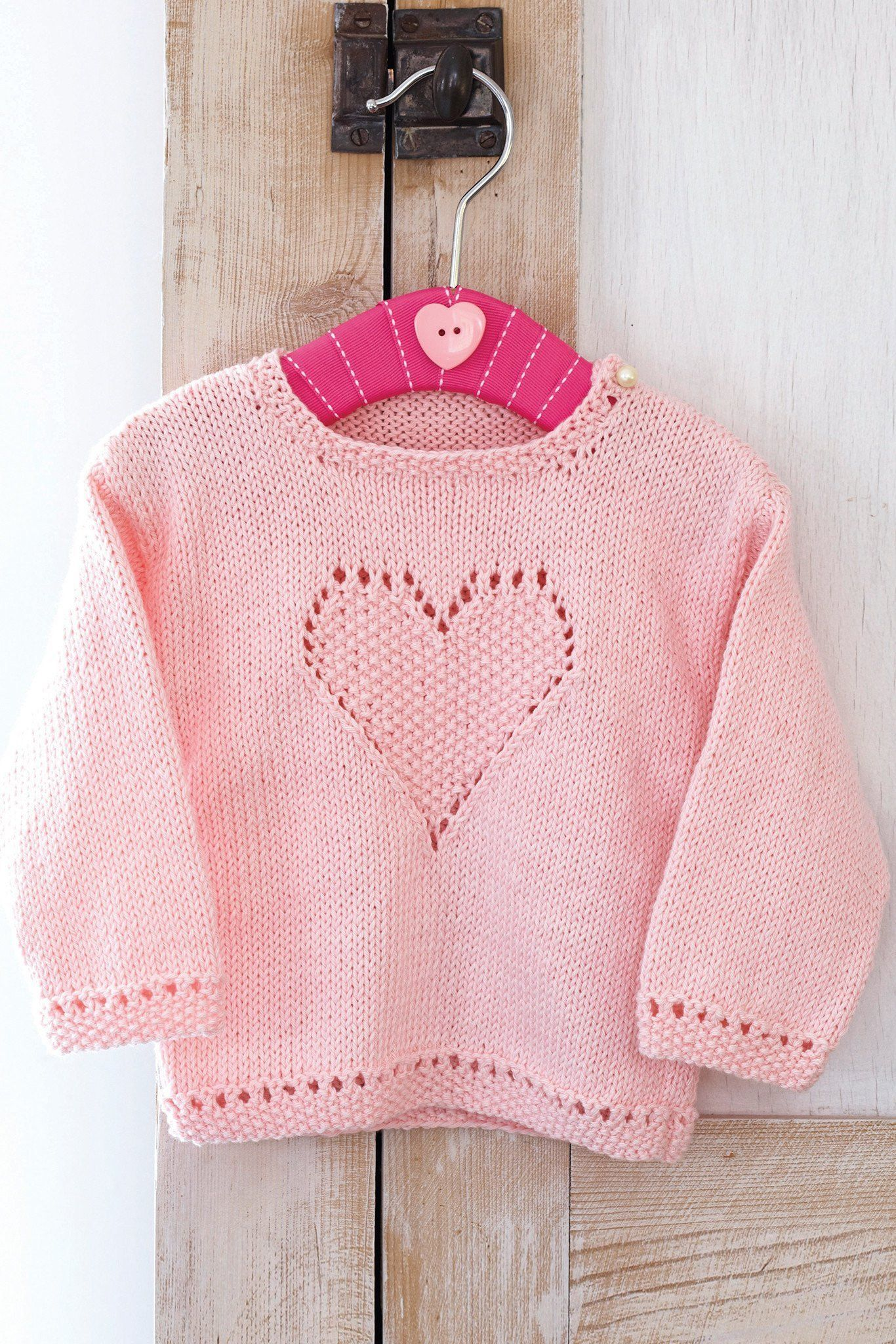 Baby Girls Jumper With Heart Knitting Pattern | The ...