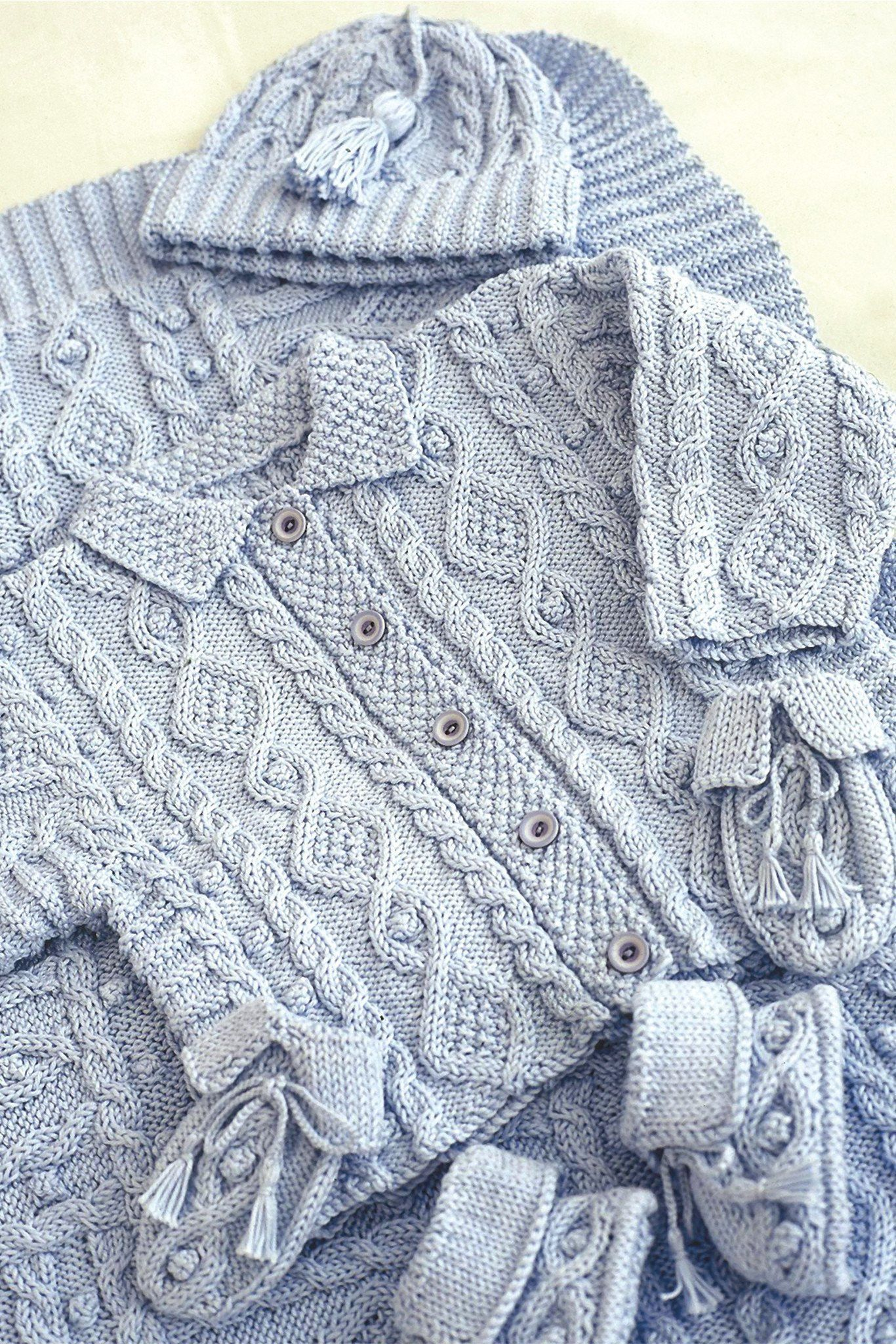Baby Jacket Accessories And Blanket Knitting Patterns