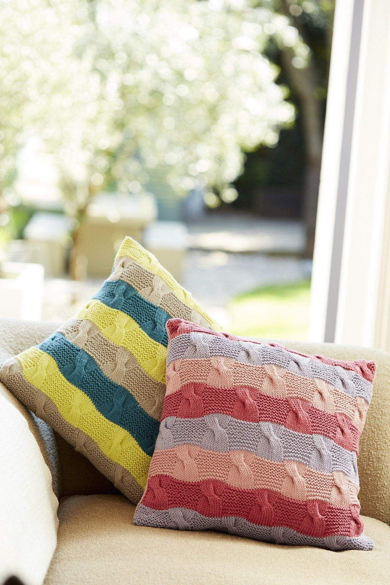 Striped Cushions Knitting Patterns | The Knitting Network