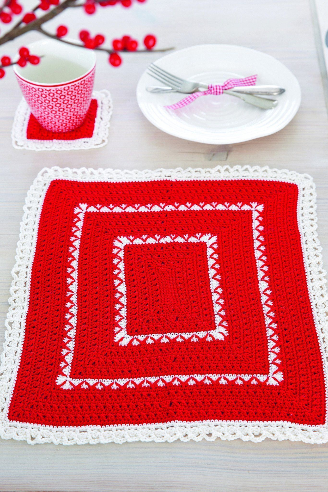 Christmas Tablemat And Coaster Crochet Patterns