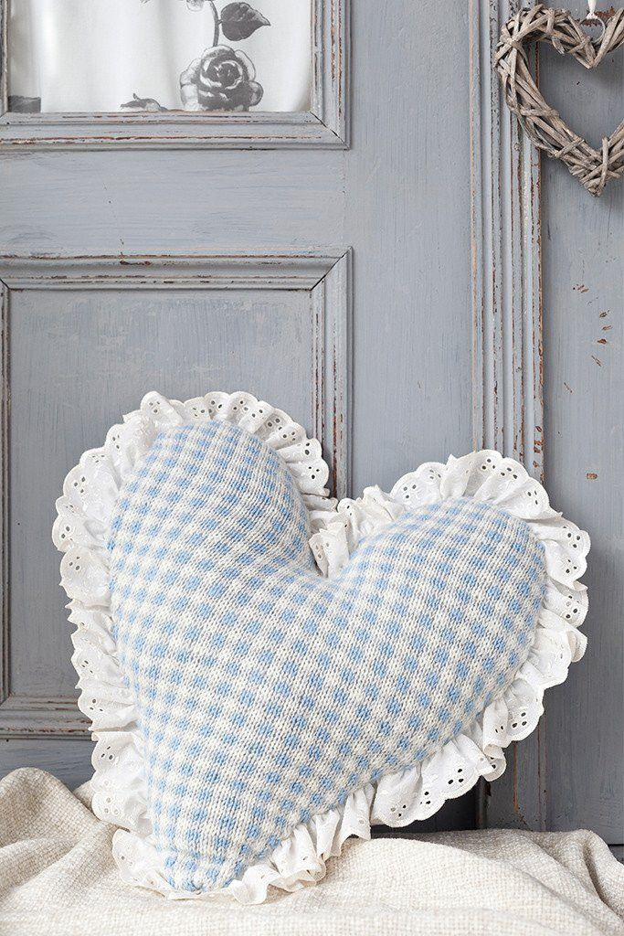 Fair Isle Heart Cushion Knitting Pattern   The Knitting ...