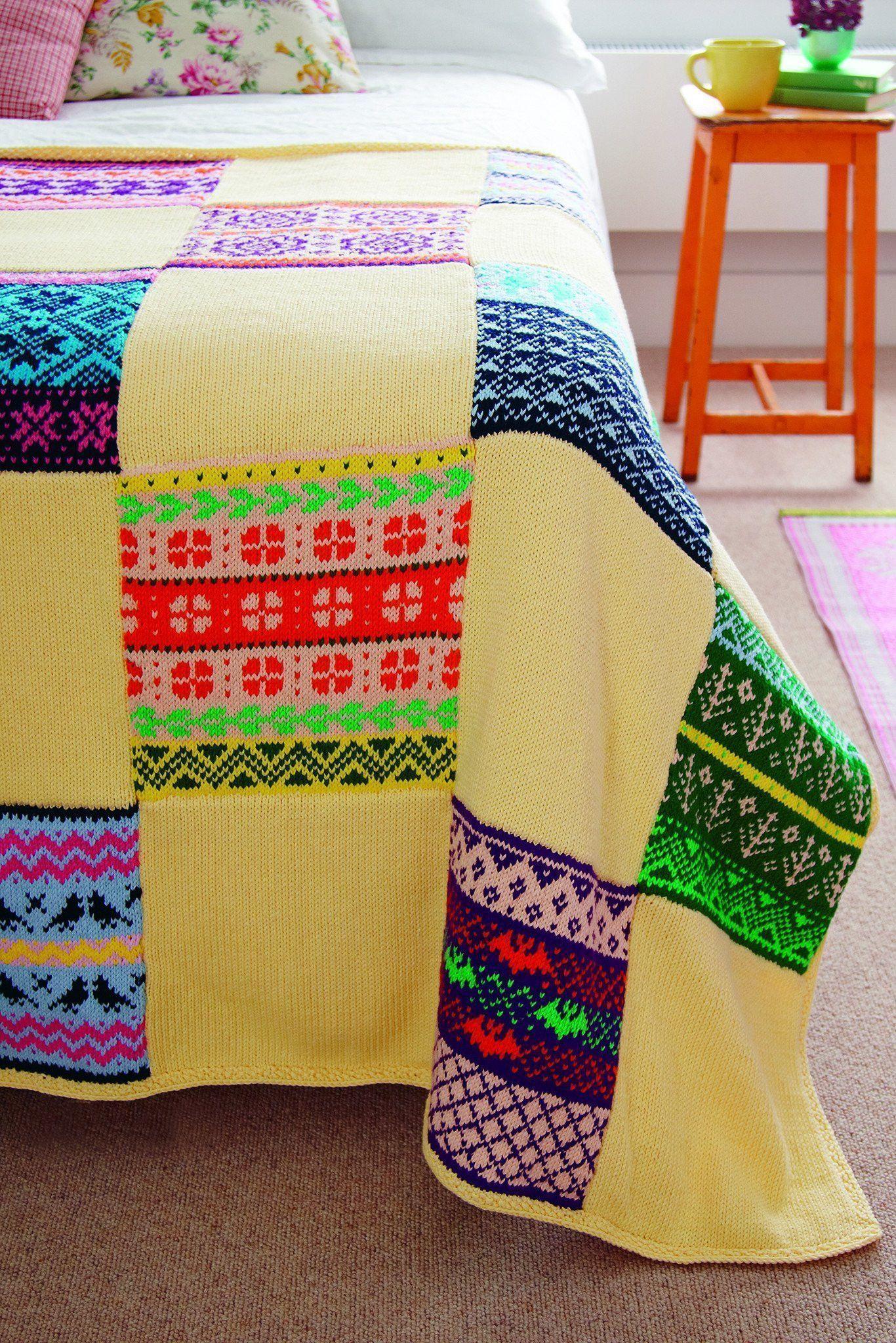 Fair Isle Square Blanket Knitting Pattern | The Knitting ...