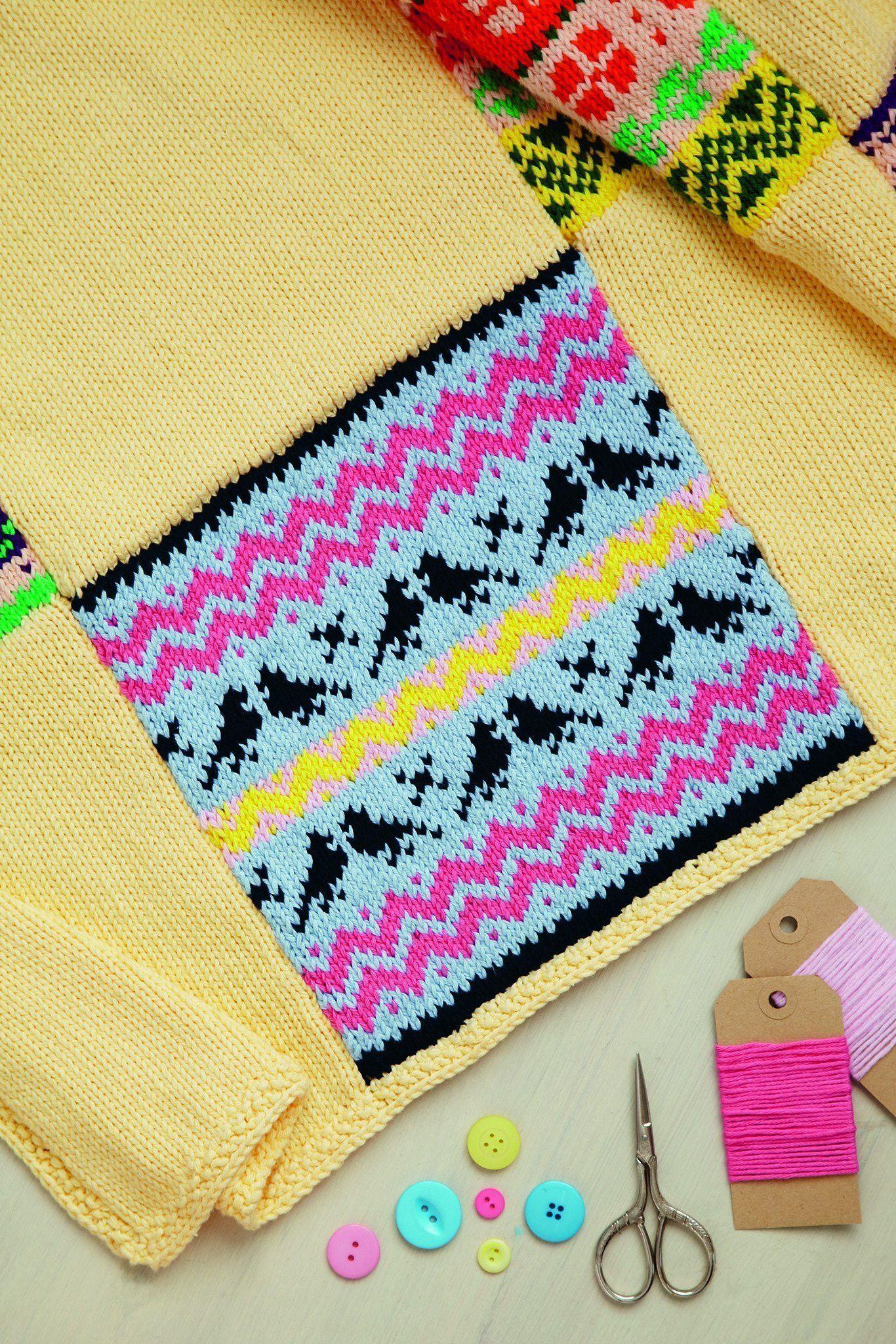 Fair Isle Square Blanket Knitting Pattern The Knitting