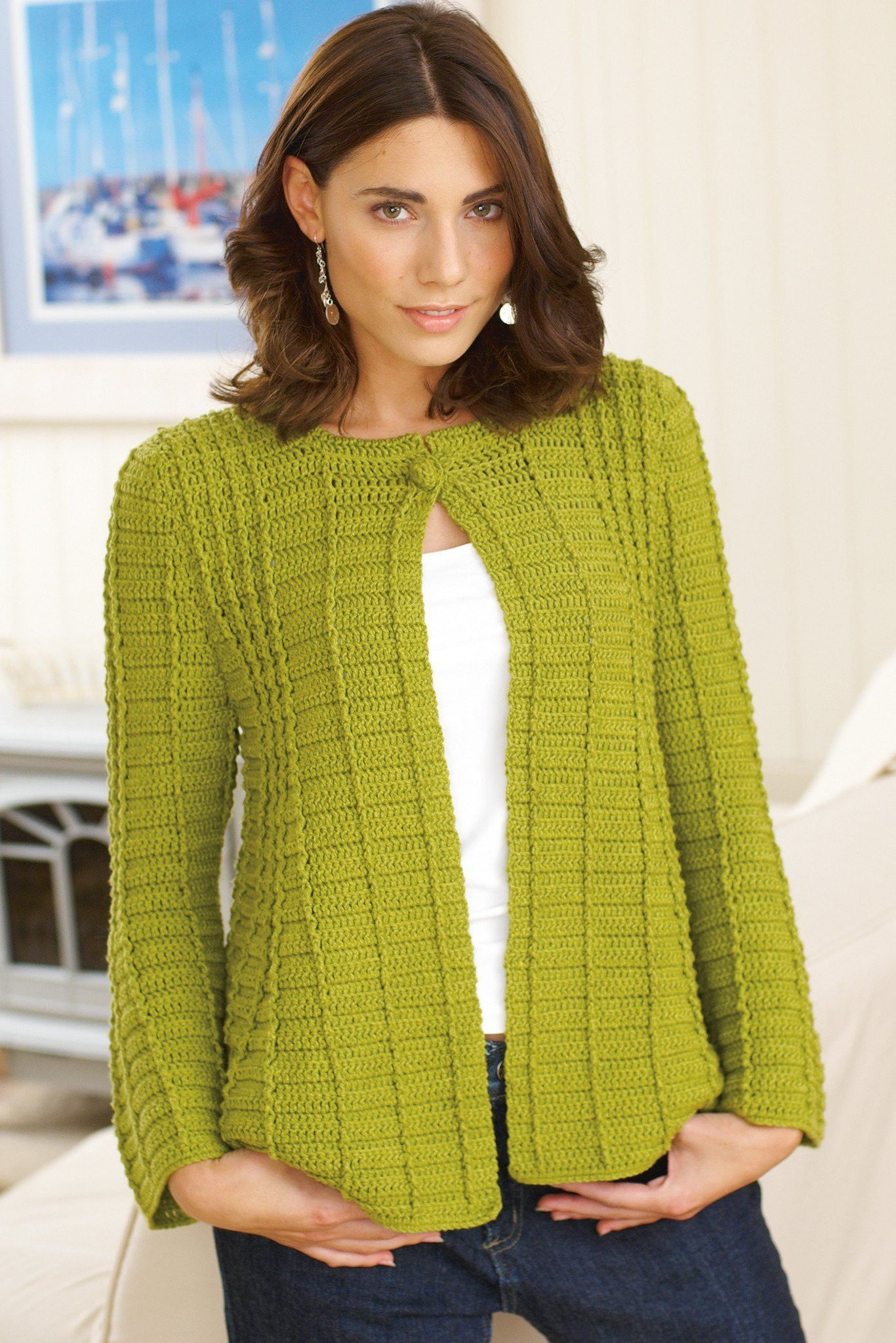 Fit And Flare Womens Jacket Crochet Pattern | The Knitting ...