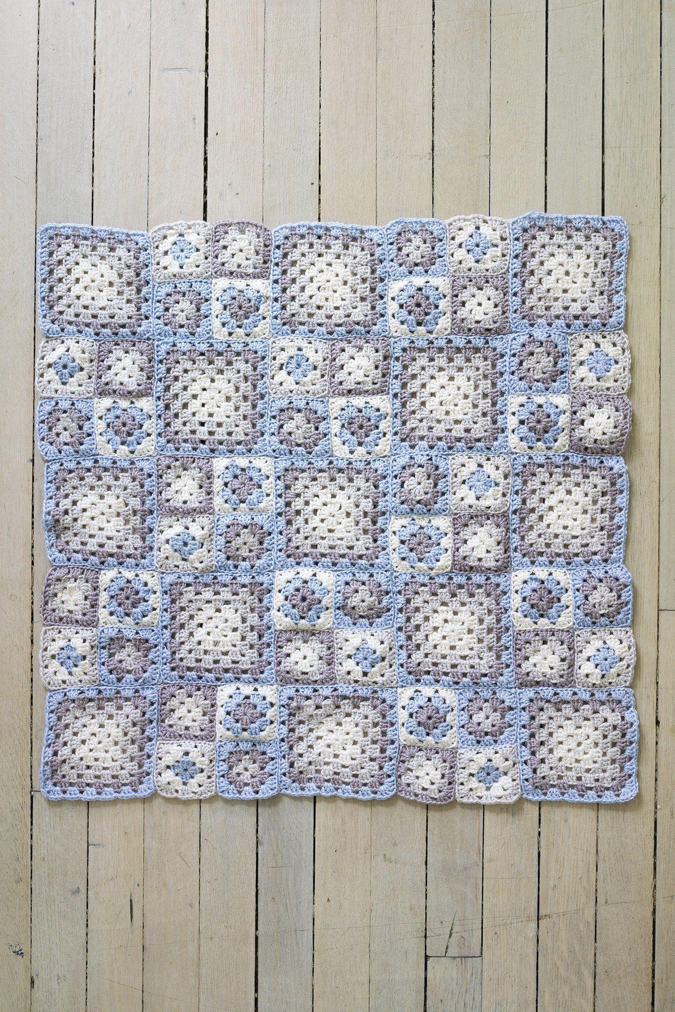 Granny Square Baby Blanket Crochet Pattern