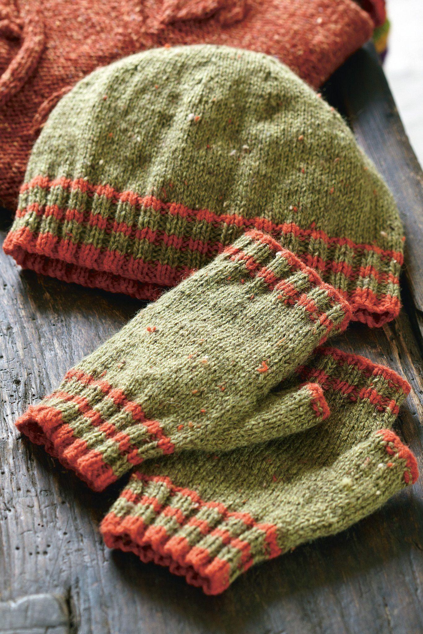 Hat And Fingerless Gloves Knitting Pattern The Knitting