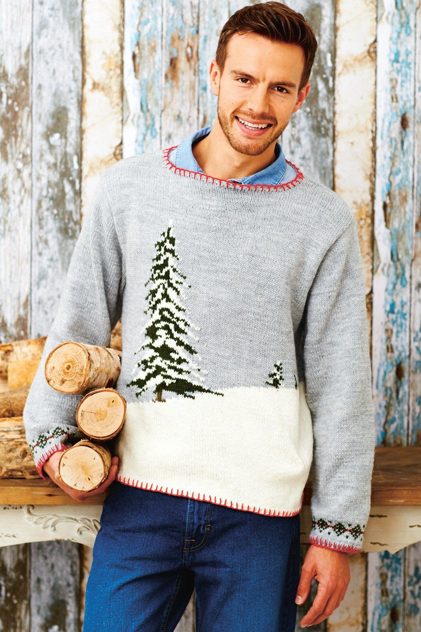 Mens Christmas Jumper Knitting Pattern | The Knitting Network
