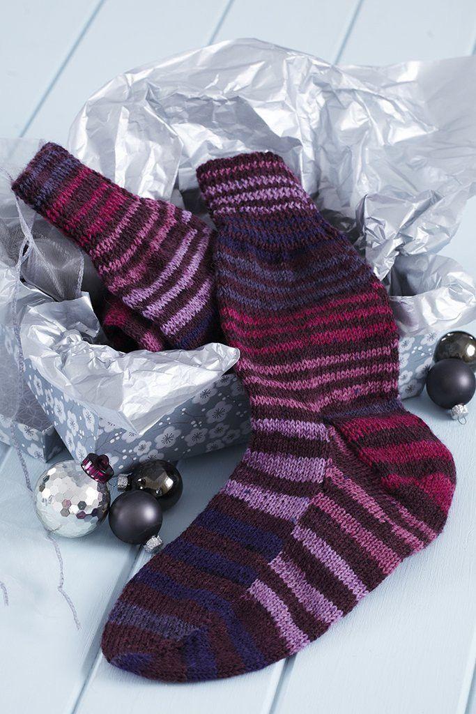 Mens Stripy Socks Knitting Pattern   The Knitting Network