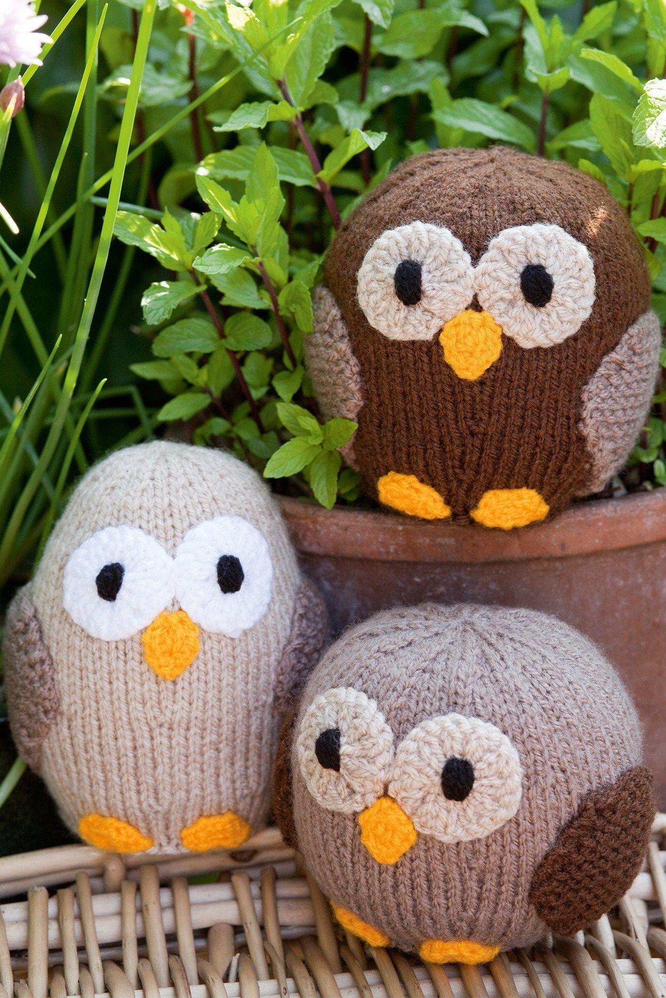 Owl Make Family Set Knitting Patterns   The Knitting Network