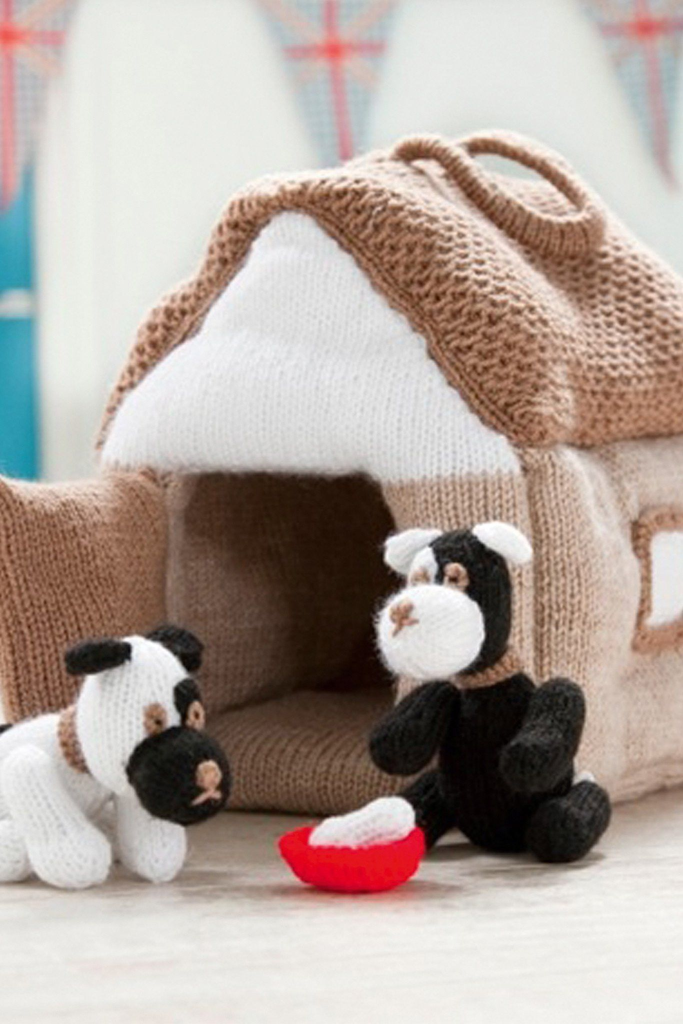 Puppy And Kennel Knitting Patterns | The Knitting Network