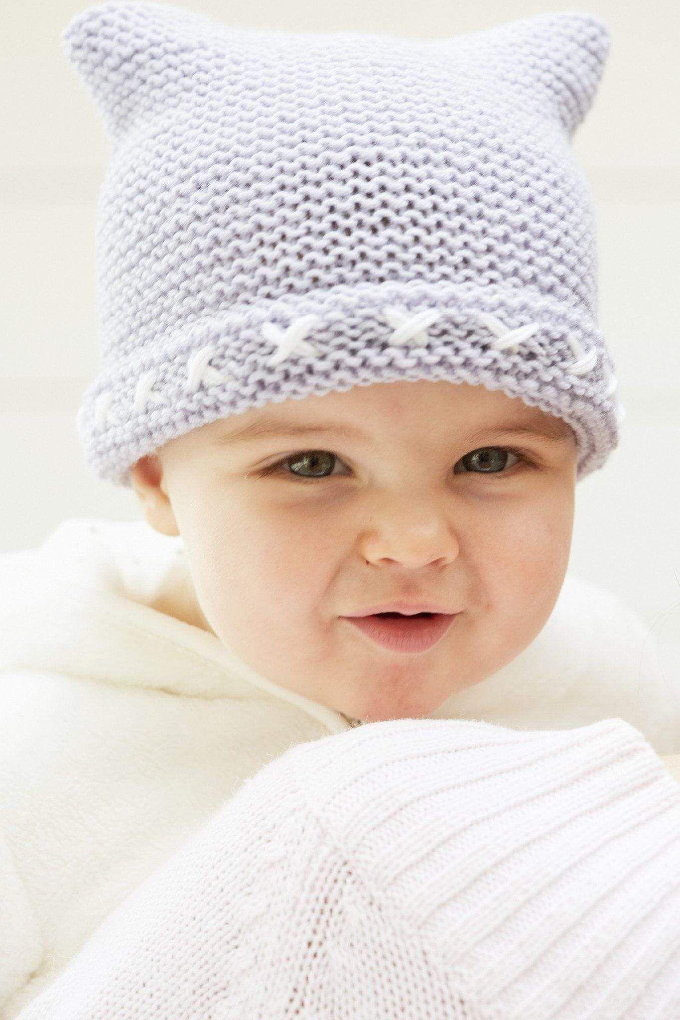 Garter Stitch Baby Hat And Bootees Knitting Pattern 5da6edd8583