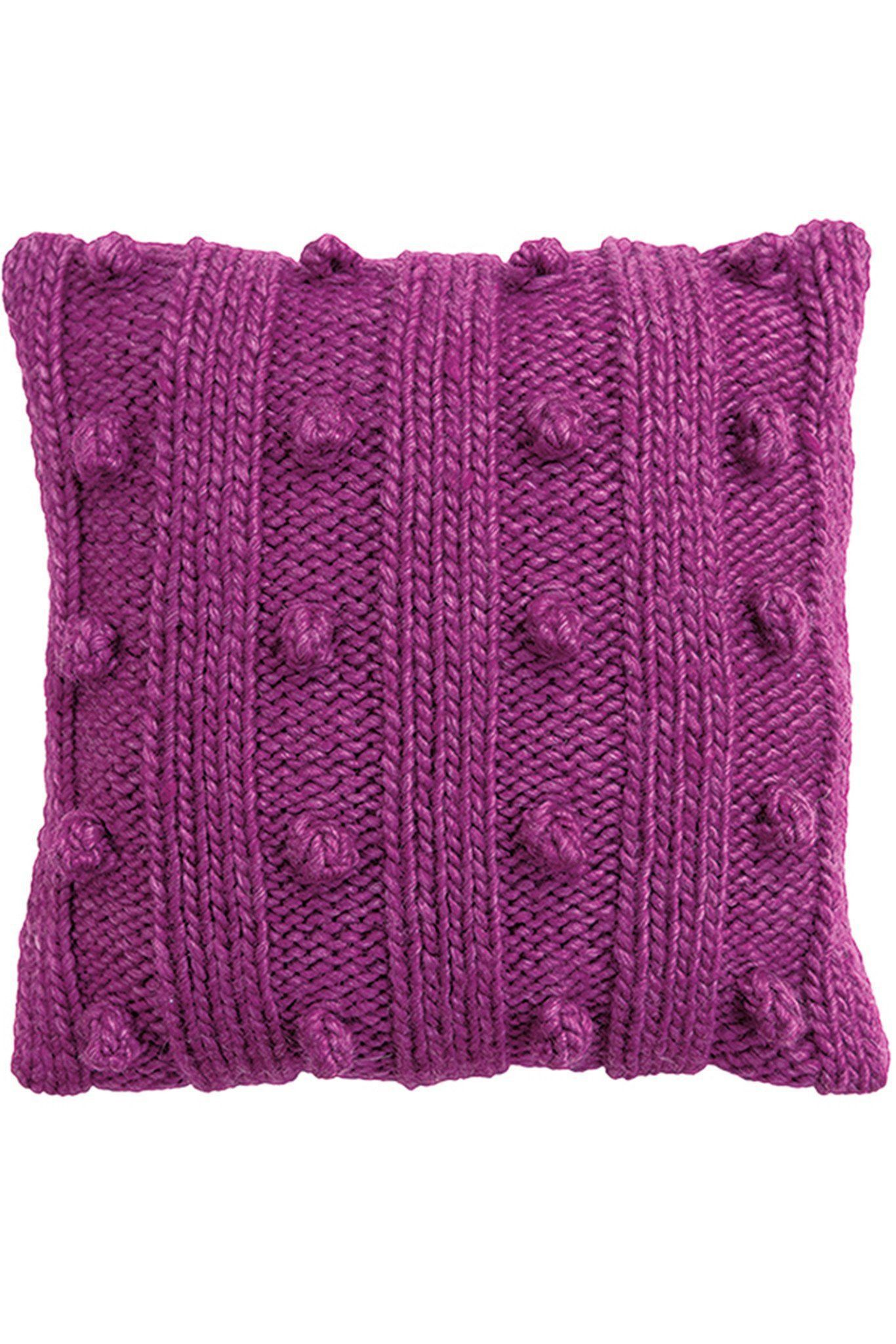 Set Of 4 Cushion Cover Knitting Patterns | The Knitting ...