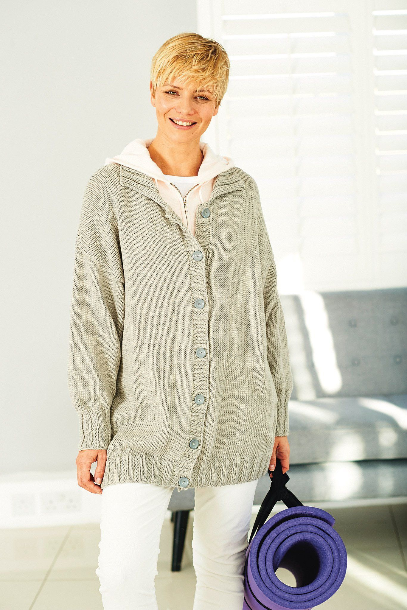 Slouchy Ladies Jacket Knitting Pattern | The Knitting Network