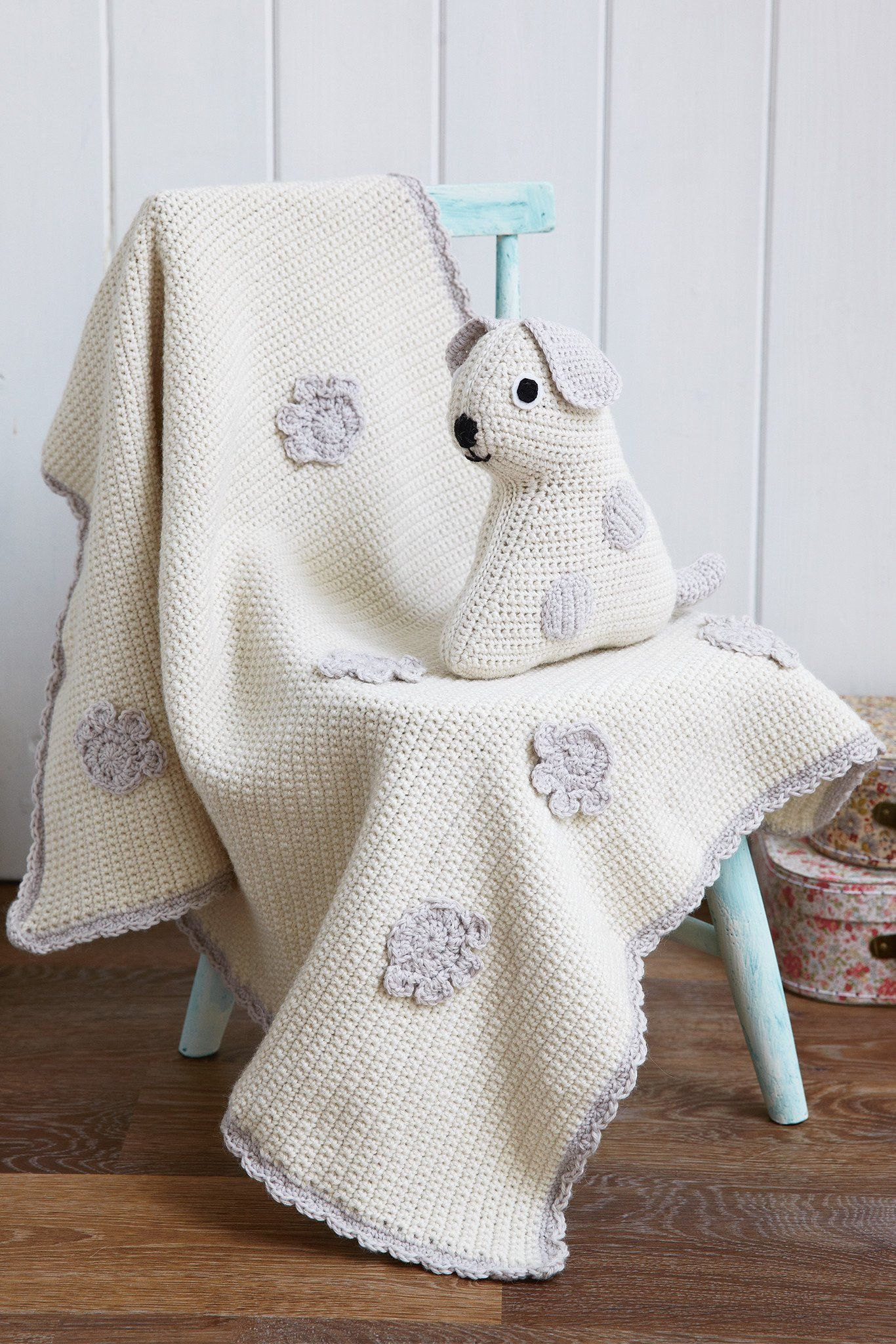 f5761c434 Vintage Dog Toy And Baby Blanket Crochet Patterns