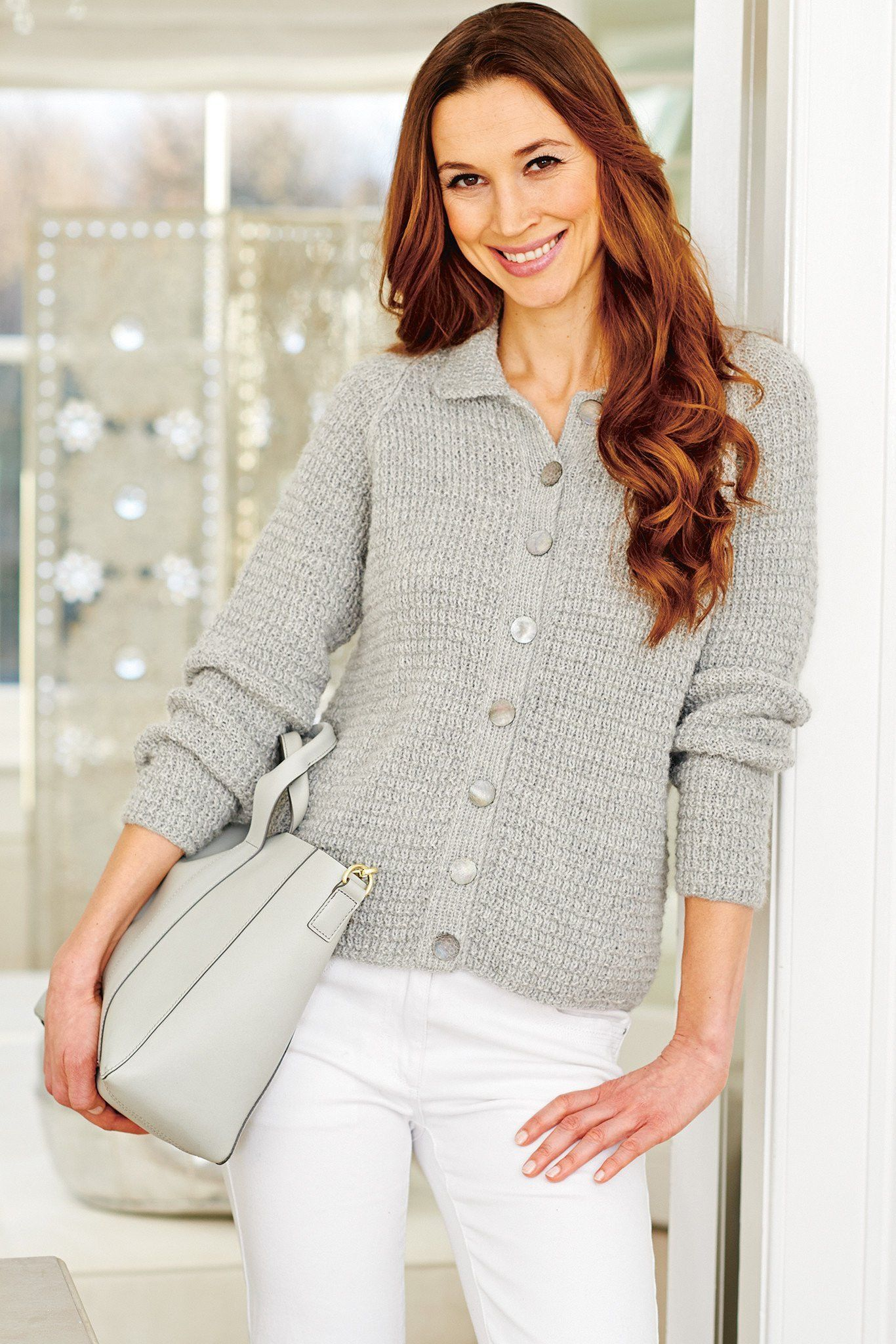 Vintage Long Sleeve Ladies Cardigan Knitting Pattern | The ...