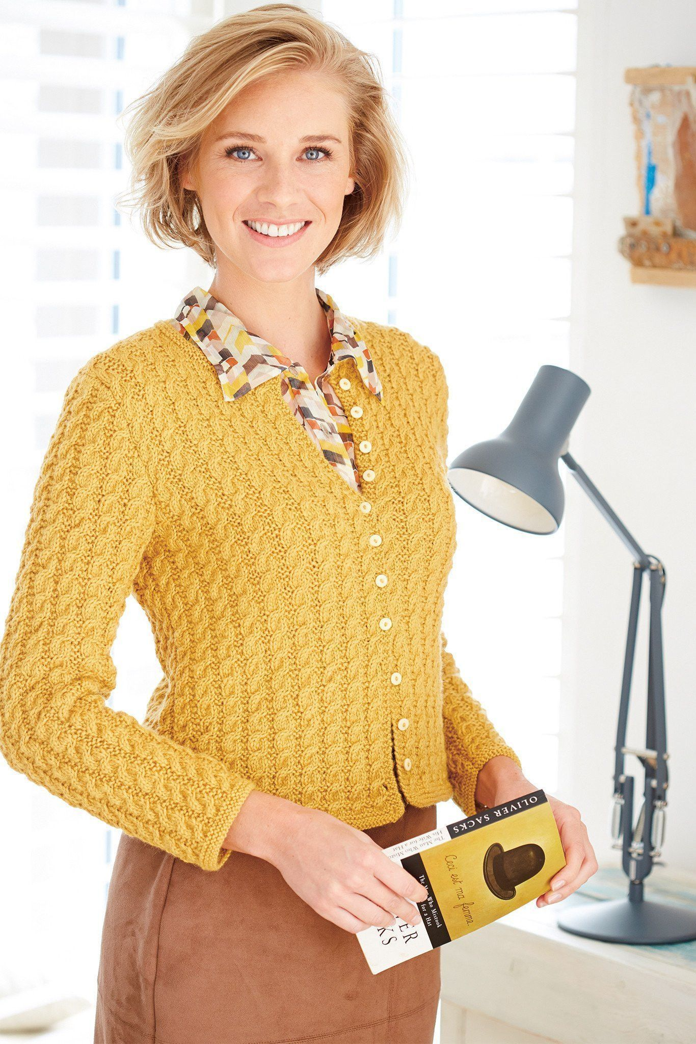 Womens Cable Jacket Knitting Pattern | The Knitting Network