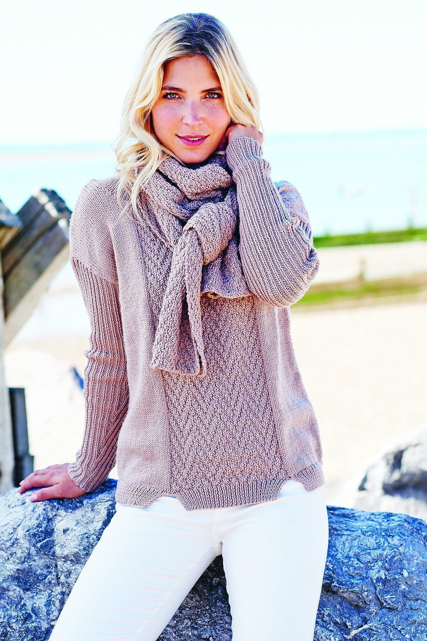 Womens Jumper And Scarf Knitting Patterns | The Knitting ...