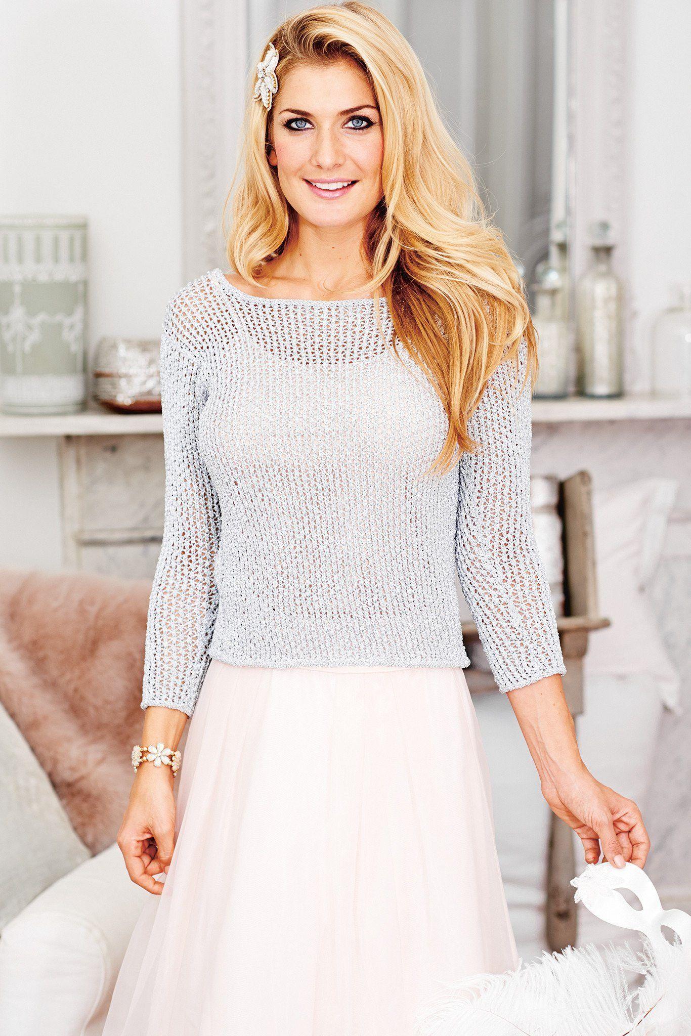 Womens Mesh Jumper Knitting Pattern | The Knitting Network