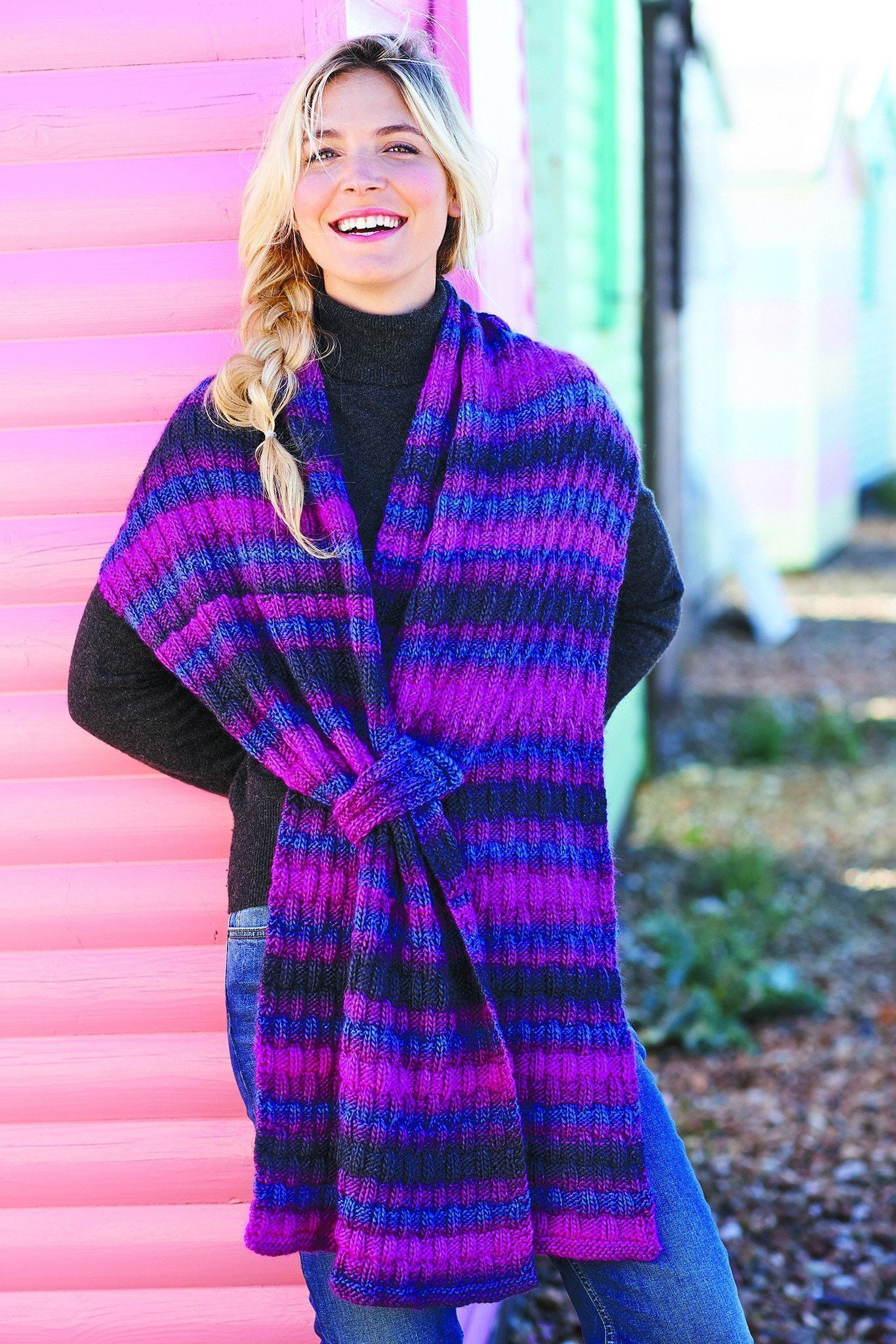 Womens Scarf With Loop Knitting Pattern | The Knitting Network