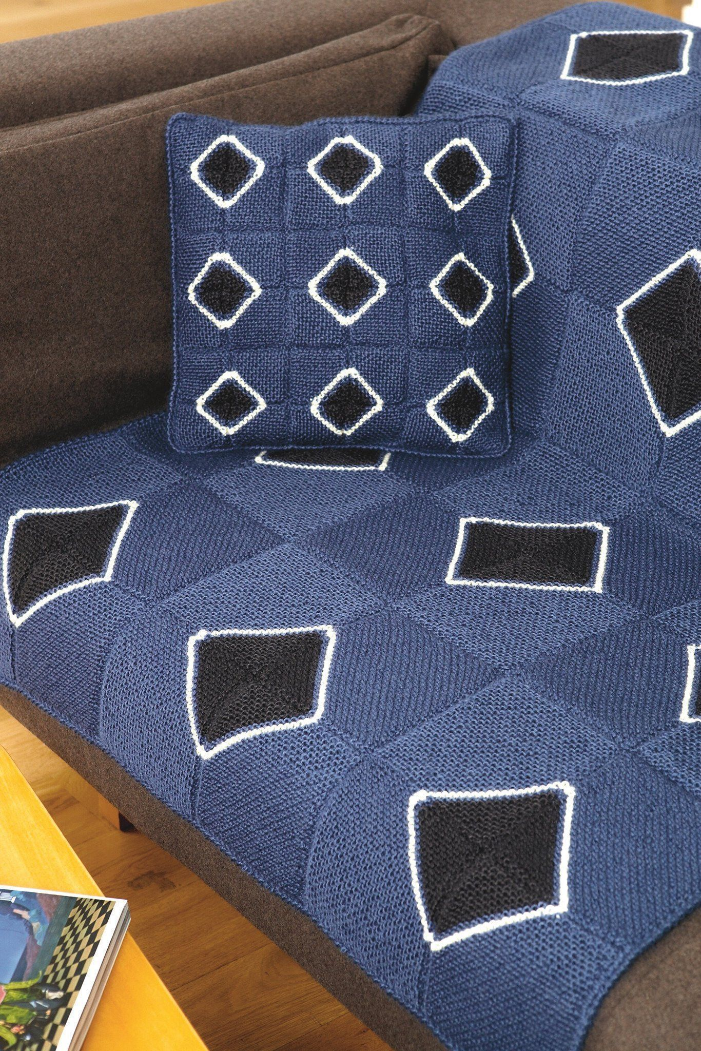 Blanket And Matching Cushion Knitting Patterns | The ...