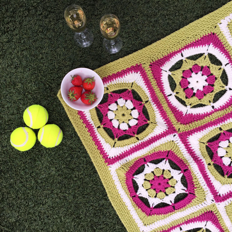 Wimbledon Blanket The Knitting Network
