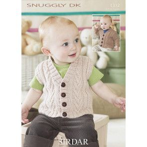 Cardigan and Waistcoat in Sirdar Snuggly DK (1312)