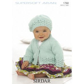 Cardigan and Beret in Sirdar Supersoft Aran (1760)