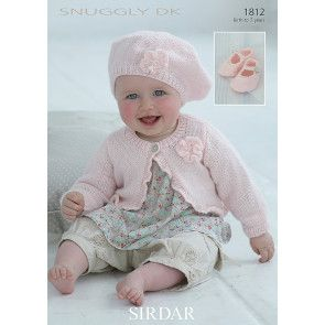 Cardie, Beret and Shoes in Sirdar Snuggly DK (1812)