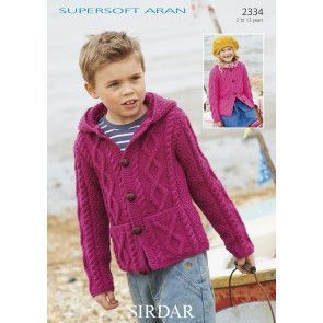 Cardigans in Sirdar Supersoft Aran (2334)