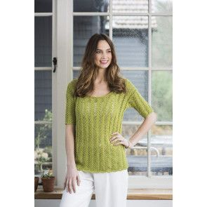 ladies lacy scoop neck knitted top