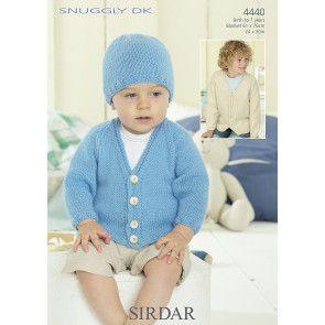 Boy's Cardigan, Hat and Blanket in Sirdar Snuggly DK (4440)