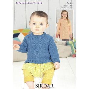 Sweater and Dress in Sirdar Snuggly DK (4494)