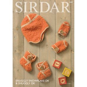 Bootees, Mittens & Helmet in Sirdar Snuggly Snowflake DK and Snuggly DK (4689)
