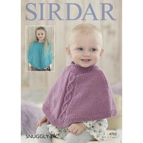 Ponchos in Sirdar Snuggly DK (4702)