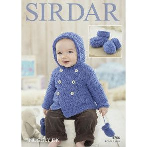 Boy's Coat, Mittens and Bootees in Sirdar Snuggly DK (4706)
