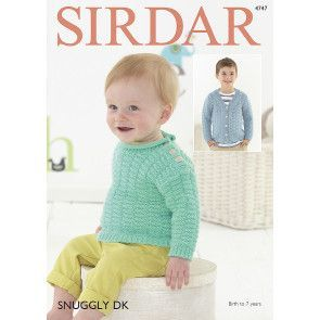 Sweater and Cardigan in Sirdar Snuggly DK (4747)