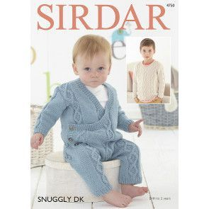 Boy's Onesie and Sweater In Sirdar Snuggly DK (4750)