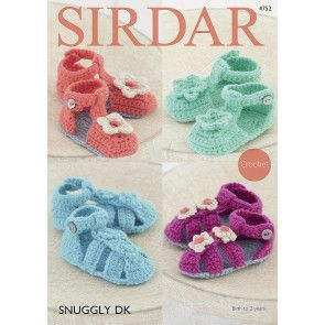 Sandals in Sirdar Snuggly DK (4752)