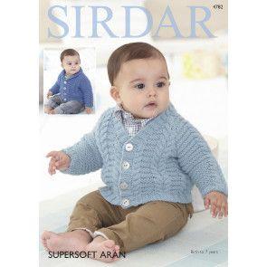 Cardigan in Sirdar Supersoft Aran (4782)