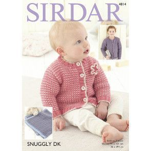 Cardigans and Blanket in Sirdar Snuggly DK (4814)