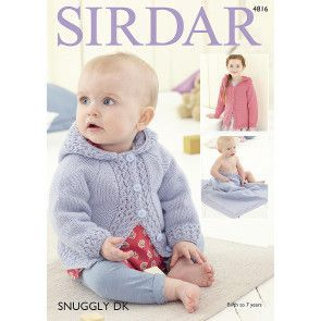 Girl's Jacket and Blanket in Sirdar Snuggly DK (4816)