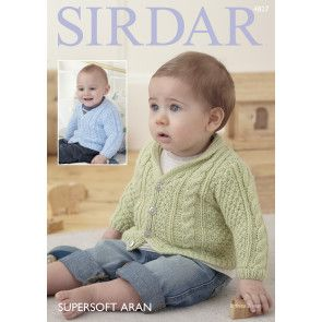 Cardigans in Sirdar Supersoft Aran (4827)
