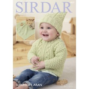 Sweater, Hat and Blanket in Sirdar Supersoft Aran (4829)
