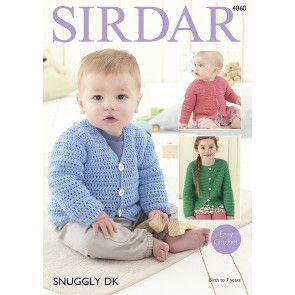 Cardigans in Sirdar Snuggly DK (4860)