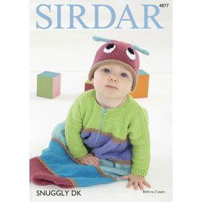 Sleeping Bag and Hat in Sirdar Snuggly DK (4877)