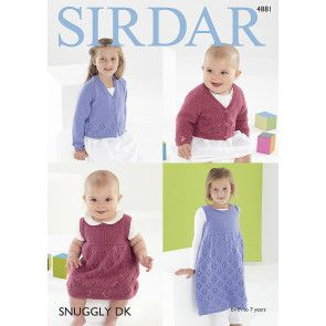 Baby & Girls Cardigans & Pinafores in Sirdar Snuggly DK (4881)