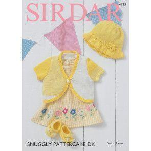 Bolero, Sunhat and Shoes in Sirdar Pattercake DK (4923)