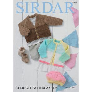 Cardigans, Bootees and Beret in Sirdar Snuggly Pattercake DK (4925)