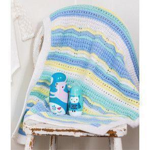 Little Star Baby Blanket - Blue Colourway